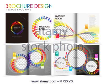 Modern Brochure Design Colorful Flyer Leaflet Layout Templates For