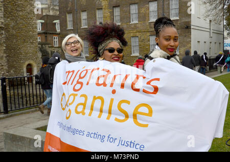 Westminster, London, UK. 8th March, 2018. 'Women for Refugee Women' #SetHerFree campaign lobby Parliament in support - Stock Photo