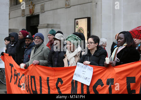 Yarlswood, Manchester. 8th Mar, 2018. On International Women's Day during a vigil takes place to show support for - Stock Photo