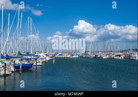Marina, Heiligenhafen, Baltic Sea, Schleswig-Holstein, Germany, Europe - Stock Photo