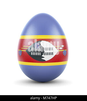 High quality realistic rendering of an glossy egg with the flag of Swaziland.(series) - Stock Photo