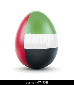 High quality realistic rendering of an glossy egg with the flag of United Arab Emirates.(series) - Stock Photo