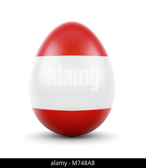 High quality realistic rendering of an glossy egg with the flag of Austria.(series) - Stock Photo