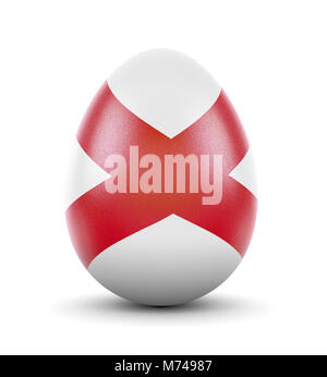 High quality realistic rendering of an glossy egg with the flag of Alabama.(series) - Stock Photo