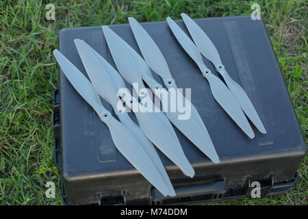 Spare Drone propellers for multirotor fpv rc aircraft - Stock Photo