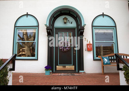 This doorway features several good ideas for decoration. - Stock Photo
