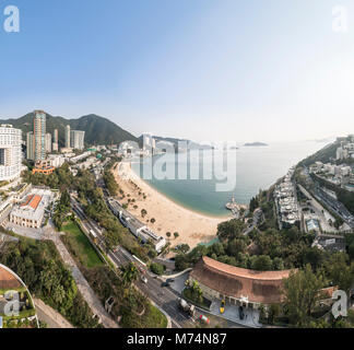 View of the beach at Repulse Bay. Hong Kong. - Stock Photo