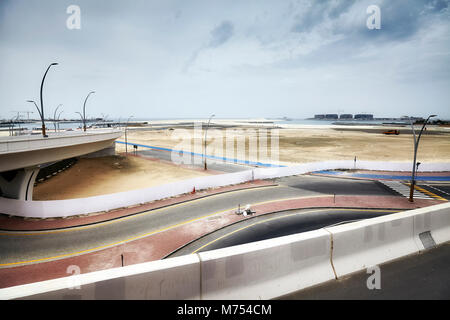 Transport infrastructure and construction site in Dubai, United Arab Emirates. - Stock Photo