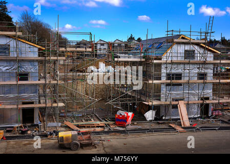 New homes / houses under construction in the Roborough area of Plymouth, UK. - Stock Photo