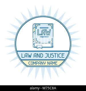 Law and justice company name concept emblem - Stock Photo