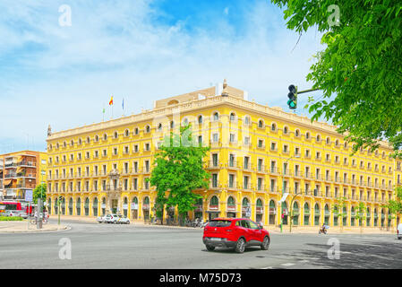 Seville, Spain - June 08,2017: Hotel TRYP Sevilla Macarenain  city Seville - is the capital and largest city of - Stock Photo