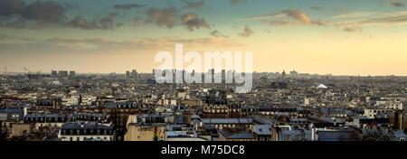 Paris 18e arr, view of Paris from the Butte Montmartre. Ile de france. France - Stock Photo