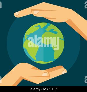 Ecology protection concept illustration. - Stock Photo