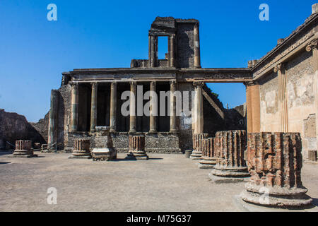Stabian baths in Pompeii, Italy - Stock Photo