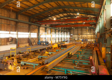 The interior of a building used in the steel industry in the UK - Stock Photo
