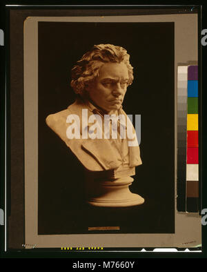 Ludwig van Beethoven - studied from the death mask (i.e. life mask) LCCN2001700485 - Stock Photo