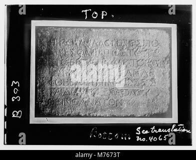Maps, plans, restorations, etc. Warning gentiles against intrusion into temple LOC matpc.12330 - Stock Photo