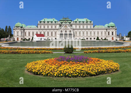 Upper Belvedere Palace, UNESCO World Heritage Site, Vienna, Austria, Europe - Stock Photo