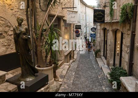 Saint-Paul de Vence, Cote d'Azur, Alpes Maritimes, Provence, France, Europe - Stock Photo