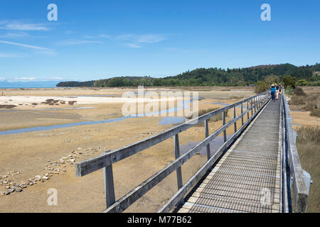 Coastal Walking Track, Sandy Bay, Abel Tasman National Park, Marahau, Tasman Bay, Tasman District, New Zealand - Stock Photo