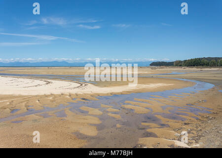 Sandy Bay, Abel Tasman National Park, Marahau, Tasman Bay, Tasman District, New Zealand - Stock Photo