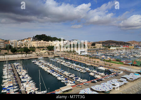 Yacht Marina, Cartagena, Murcia, Spain, Europe - Stock Photo