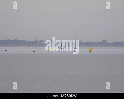 Sheerness, Kent, UK. 9th March, 2018. UK Weather: an overcast and calm morning in Sheerness. The wreck of the SS - Stock Photo