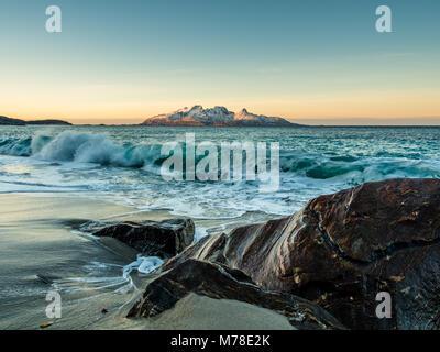 Winter scene from Mjelle - Stock Photo