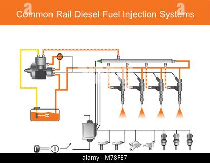 Modern diesel fuel injection system Stock Photo: 216207014 - Alamy