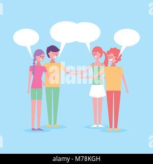 people cartoon characters - Stock Photo