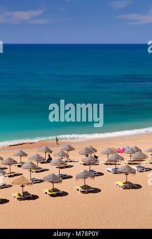 Praia do Castelo beach, Atlantic Ocean, Albufeira, Algarve, Portugal, Europe - Stock Photo