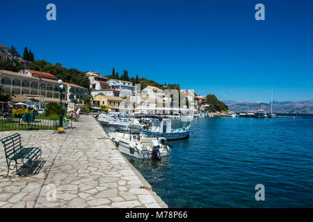 Harbour of Kassiopi, northern Corfu, Ionian islands, Greek Islands, Greece, Europe - Stock Photo