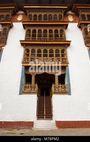 Punakha Fortress Monastery, Paro, Bhutan, Asia - Stock Photo