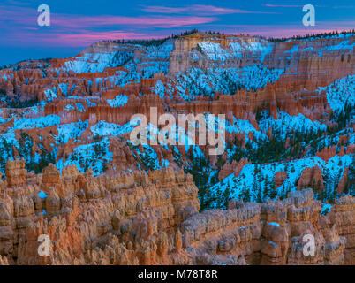 Dusk, Bryce Canyon National Park, Utah - Stock Photo