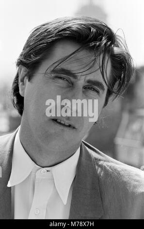 Pop star Bryan Ferry pictured in Paris where he is putting the finishing touches to his new album. 26th April 1985 - Stock Photo