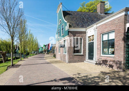 Typical dutch stone houses in old small village near Amsterdam, Netherlands. - Stock Photo
