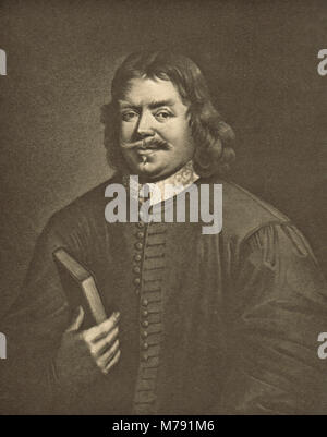 John Bunyan, English writer, Puritan preacher, author of The Pilgrim's Progress - Stock Photo