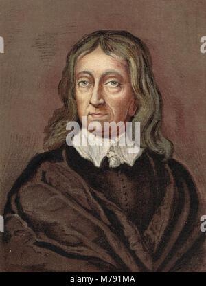John Milton, English Poet, (1608–1674) - Stock Photo