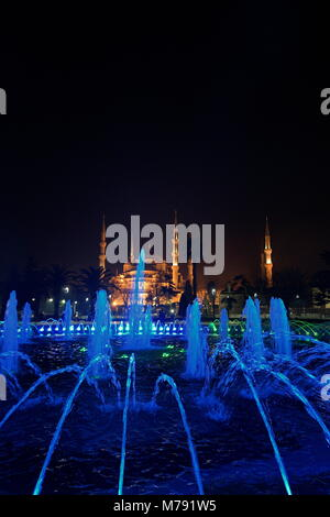 Istanbul, Turkey. The Sultan Ahmed Mosque (Istanbul Sultan Ahmet Camii) in Istanbul was commissioned in 1609 by - Stock Photo