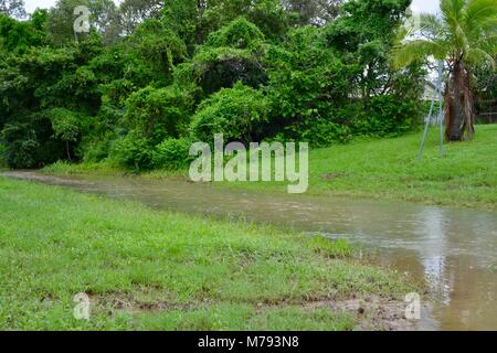 Flooding in Annandale townsville after storms and heavy rainfall, Townsville, Queensland, Australia - Stock Photo