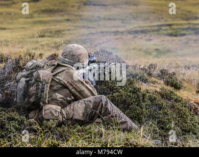 The Household Division on the Onion Range MOD 45163602 - Stock Photo
