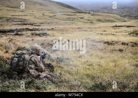 The Household Division on the Onion Range MOD 45163603 - Stock Photo