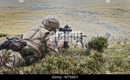 The Household Division on the Onion Range MOD 45163588 - Stock Photo