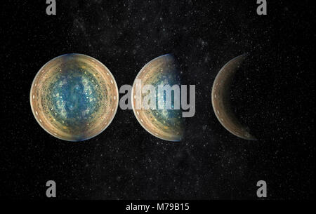 Universe scene with planets, stars and galaxies in outer space exploration. (Elements of this image furnished by NASA)
