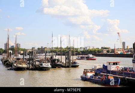 Hermitage Community Moorings in London, England. - Stock Photo