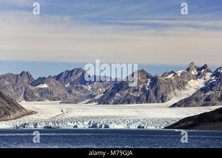 Greenland, East Greenland, area of Ammassalik, Knud Rasmussen glacier, - Stock Photo