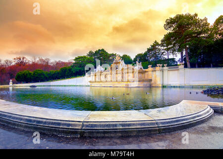 Schonbrunn Palace, imperial summer residence in Vienna, Austria - Stock Photo