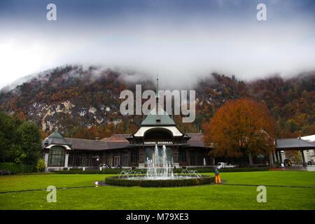 Interlaken, Switzerland - Oct 26, 2016: Casino Kursaal in Interlaken, Switzerland - Stock Photo