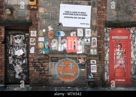 Street art in Manchester's Northern Quarter. - Stock Photo