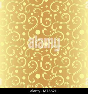 Golden Floral Texture - Stock Photo